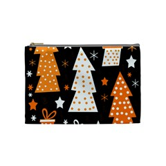 Orange playful Xmas Cosmetic Bag (Medium)