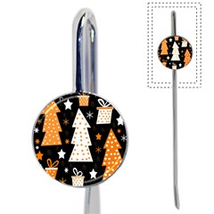Orange playful Xmas Book Mark