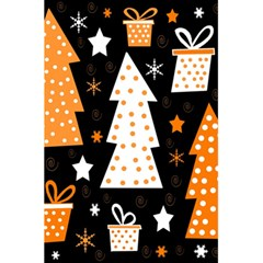 Orange playful Xmas 5.5  x 8.5  Notebooks