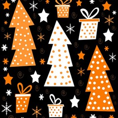 Orange playful Xmas Magic Photo Cubes