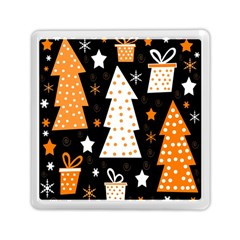 Orange playful Xmas Memory Card Reader (Square)