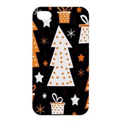 Orange playful Xmas Apple iPhone 4/4S Premium Hardshell Case