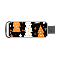 Orange playful Xmas Portable USB Flash (One Side)