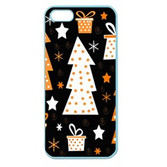 Orange playful Xmas Apple Seamless iPhone 5 Case (Color)