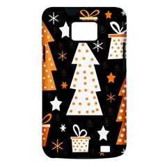 Orange playful Xmas Samsung Galaxy S II i9100 Hardshell Case (PC+Silicone)