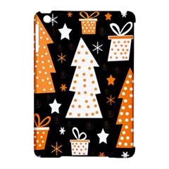 Orange playful Xmas Apple iPad Mini Hardshell Case (Compatible with Smart Cover)