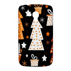 Orange playful Xmas Samsung Galaxy Duos I8262 Hardshell Case