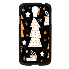 Orange playful Xmas Samsung Galaxy S4 I9500/ I9505 Case (Black)