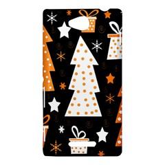 Orange playful Xmas Sony Xperia C (S39H)