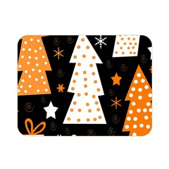 Orange playful Xmas Double Sided Flano Blanket (Mini)