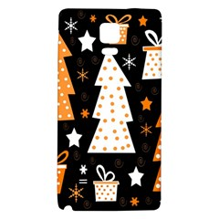 Orange playful Xmas Galaxy Note 4 Back Case