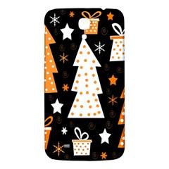 Orange playful Xmas Samsung Galaxy Mega I9200 Hardshell Back Case