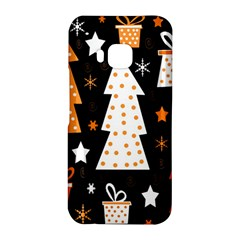 Orange playful Xmas HTC One M9 Hardshell Case