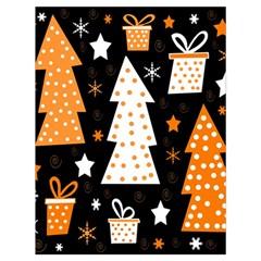 Orange playful Xmas Drawstring Bag (Large)