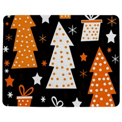 Orange playful Xmas Jigsaw Puzzle Photo Stand (Rectangular)