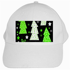 Green Playful Xmas White Cap