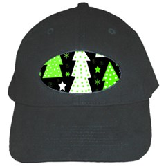 Green Playful Xmas Black Cap