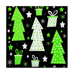 Green Playful Xmas Tile Coasters