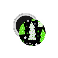 Green Playful Xmas 1.75  Magnets