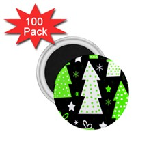 Green Playful Xmas 1.75  Magnets (100 pack)