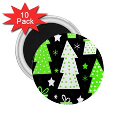 Green Playful Xmas 2.25  Magnets (10 pack)
