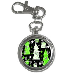 Green Playful Xmas Key Chain Watches