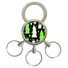 Green Playful Xmas 3-Ring Key Chains