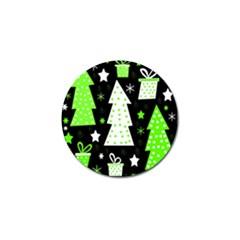 Green Playful Xmas Golf Ball Marker (10 pack)