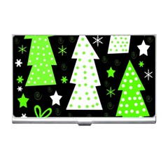 Green Playful Xmas Business Card Holders