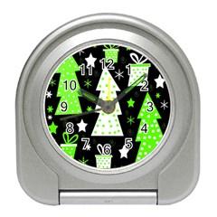 Green Playful Xmas Travel Alarm Clocks