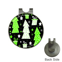 Green Playful Xmas Hat Clips with Golf Markers