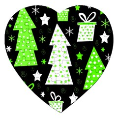 Green Playful Xmas Jigsaw Puzzle (Heart)