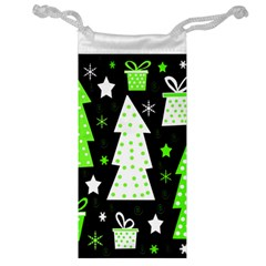Green Playful Xmas Jewelry Bags