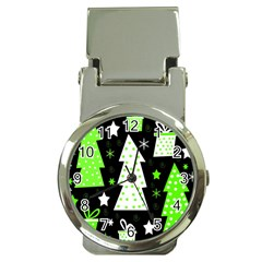 Green Playful Xmas Money Clip Watches