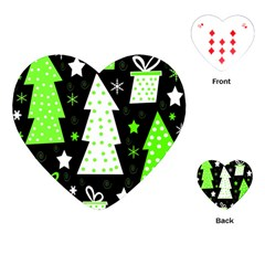 Green Playful Xmas Playing Cards (Heart)