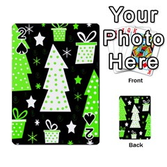 Green Playful Xmas Playing Cards 54 Designs