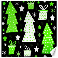Green Playful Xmas Canvas 16  x 16