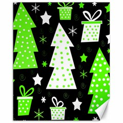 Green Playful Xmas Canvas 16  x 20