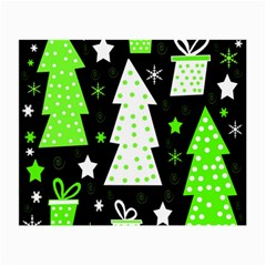 Green Playful Xmas Small Glasses Cloth (2-Side)