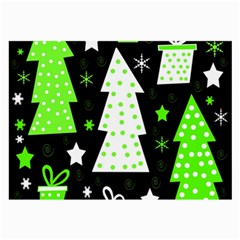 Green Playful Xmas Large Glasses Cloth