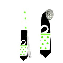 Green Playful Xmas Neckties (Two Side)