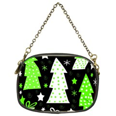 Green Playful Xmas Chain Purses (One Side)