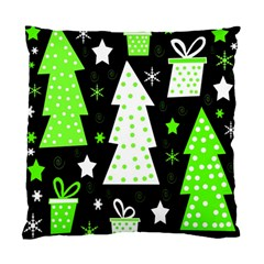 Green Playful Xmas Standard Cushion Case (Two Sides)
