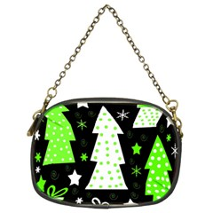 Green Playful Xmas Chain Purses (Two Sides)