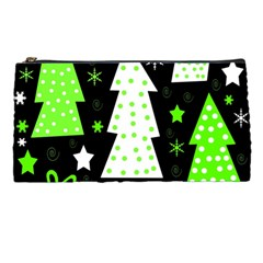 Green Playful Xmas Pencil Cases