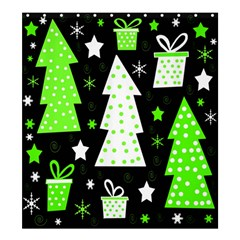 Green Playful Xmas Shower Curtain 66  x 72  (Large)