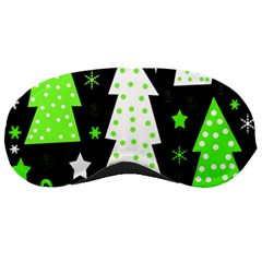 Green Playful Xmas Sleeping Masks