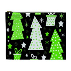 Green Playful Xmas Cosmetic Bag (XL)