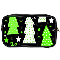 Green Playful Xmas Toiletries Bags