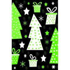 Green Playful Xmas 5.5  x 8.5  Notebooks